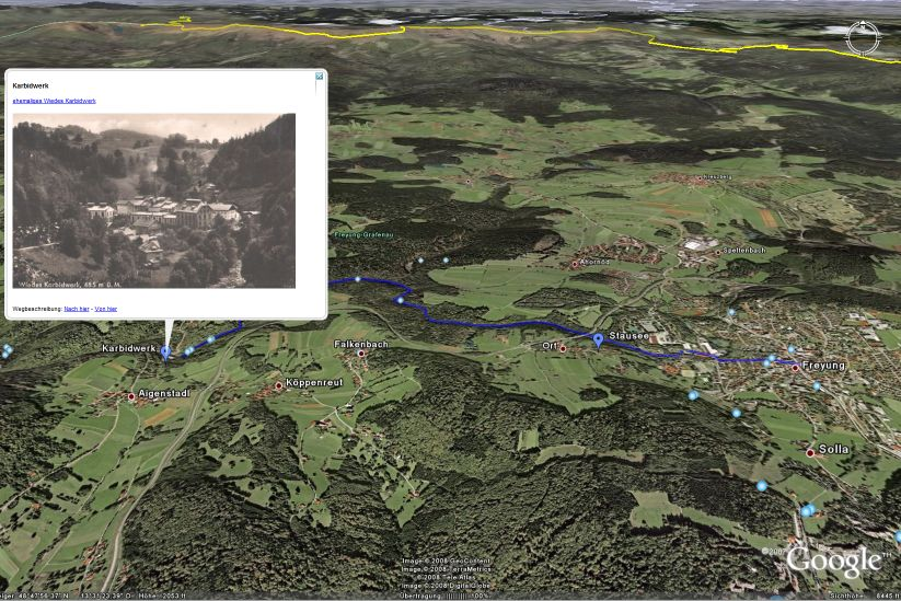 Die Buchberger Leite in Google-Earth
